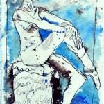 Uns gefiel die Marlene Dietrich Haltung - 2006 - Zeichnung von Susanne Haun - Tusche auf Silberburgbütten