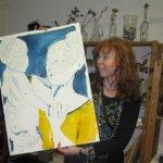Ein gelbes Kleid für Maria, am Mittwoch werde ich weiter an Maria zeichnen - Foto von Andreas Mattern