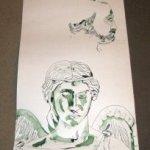 Ich werde als nächstes die Verbindungen arbeiten - Zeichnung von Susanne Haun 1000 x 40 cm