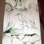 Entstehung Zeichnung Susanne Haun - 1000 x 40 cm