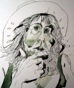 Detail aus der Zeichnung Mützengesicht, Zeichnung von Susanen Haun