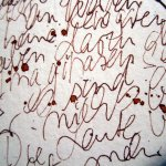 Detail Schrift (Zitate von Deleuze) - Zeichnung von Susanne Haun