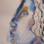 Die Aquarellstifte von Faber-Castell liegen griffbereit - Entstehung Zeichnung von Susanne Haun