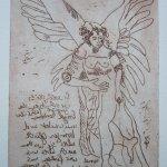 Engel Version 7 - Radierung von Susanne Haun - 20 x 15 cm - Strickätzung