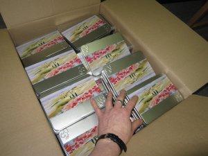 Ein Karton voller Aquarellpostkarten von Hahnemühle - Foto von Susanne Haun