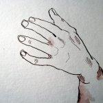 Die Hand Zeus - Ausschnitt Zeichnung von Susanne Haun