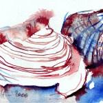 Muscheln sind immer mein Thema - Tuschezeichnung von Susanne Haun