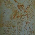 Engel Version 19 – Radierung von Susanne Haun – 20 x 15 cm – Strickätzung