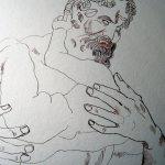 Zeus Gesicht entsteht - Zeichnung von Susanne Haun