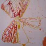 Ich arbeite den Wachsfleck in das Bild mit ein - Ausschnitt Zeichnung von Susanne Haun