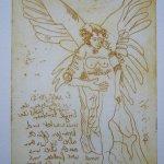 Engel Version 2 - Radierung von Susanne Haun - 20 x 15 cm - Strickätzung