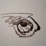 Das Adlerauge - Zeichnung von Susanne Haun