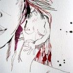 Ausschnitt Zeichnung Athena von Susanne Haun