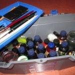 """Mein """"Mal-Utensilien-Koffer"""" Ebene 2 und 3 - Foto von Susanne Haun"""