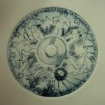 Akte - Radierung Susanne Haun - Platte = CD, Kaltnadel, 2003