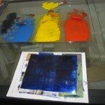 Nun kommt Farbe auf die Zinkplatte - Susanne Haun