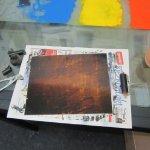 Die Platte muss vollständig mit dem Wachs bedeckt sein - Foto von Susanne Haun