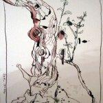 Bonsai - Zeichnung von Susanne Haun - 22 x 17 cm - Tusche auf Hahnemühle Bütten