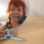 Mein Spiegel und ich noch ohne Streifen - so kann man viel besser zeichnen - Susanen Haun