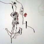 Entstehung Astlöcher Bonsai - Zeichnung von Susanne Haun