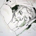 Eigentlich wollte ich die Zeichnung so lassen, auf dem Foto sehe ich Kleinigkeiten, die mir noch nicht gefallen - Susanne Haun