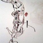 Entstehung Zeichnung Bonsai von Susanne Haun