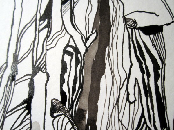 Die Linien sind lebendig - Zeichnung von Susanne Haun