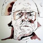 Anthony Hopkins als Titus - Zeichnung von Susanne Haun - 30 x 40 cm - Tusche auf Bütten