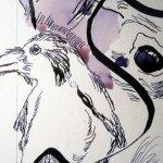 """Ausschnitt """"T"""" - Entstehung Zeichnung Susanne Haun"""