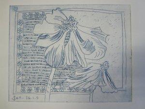 Anemonen - Radierung von Susanne Haun - 20 x 25 cm - Vernis Mou