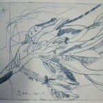 Blüte - Radierung von Susanne Haun - 20 x 25 cm - Vernis Mou
