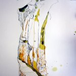 Steilwand - Ausschnitt Zeichnung Zeit der Wanderung von Susanne Haun