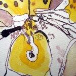 Ausschnitt Frauenschuh - Zeichnung von Susanne Haun