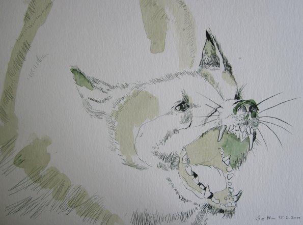 Hund Version 3 - Zeichnung von Susanne Haun - 40 x 30 cm - Tusche auf Bütten