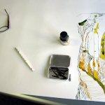 70 x 100 cm ist für eine Zeichnung schon sehr groß - Susanne Haun