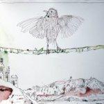Ithas Insel - Zeichnung von Susanne Haun - 40 x 100 cm - Tusche auf Bütten