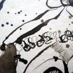 Ausschnitt Streit - Zeichnung von Susanne Haun - 15 x 30 cm - Tusche auf Bütten