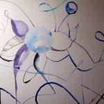 Beim nächsten Blatt setzte ich die Linien überlegter - Zeichnung von Susanne Haun