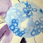 Die Blüte stelisiere ich - Zeichnung von Susanne Haun