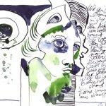 Bülowstraße Version 1 - Zeichnung von Susanne Haun - 17 x 22 cm - Tusche auf Bütten