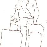 Am Bahnhof - Skizze von Susanne Haun