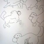 Schnelle Skizzen von Abby - Susanne Haun