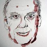 und Harald Juhnke hatte diesen besonderen Haarschnitt - Zeichnung von Susanne Haun