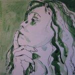 Ich am 8.4.2011 - Zeichnung von Susanne Haun - 25 x 25 cm - Tusche auf Bütten