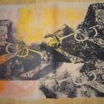 1999 Trompeter mehrfache gedruckt 50 x 60 cm - Linoldruck von Susanne Haun