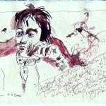 Tagebucheintragung 2006 07 5 - Zeichnung von Susanne Haun - Tusche auf Silberburg