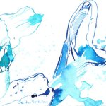 Verblühter Wisteria - Zeichnung von Susanne Haun - Tusche auf Bütten - 17 x 12 cm