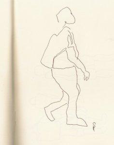 Wo geht es lang in der Oranienburger - Skizze von Susanne Haun
