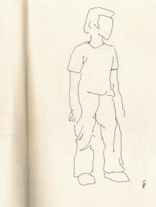 Cool eh - Skizze von Susanne Haun