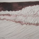 Wenigstens der Wind ist unser Freund - Zeichnung von Susanne Haun - 15 x 20 cm - Tusche auf Bütten